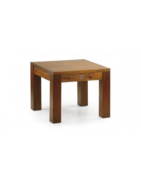 Table basse carrée acajou