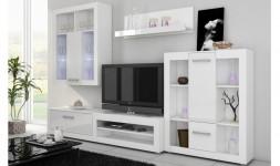 Ensemble meuble TV mural blanc