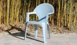 Fauteuil jardin polypropylène bleu gris