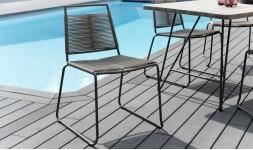 Chaise de jardin cordage