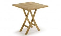 Petite table de jardin pliante en teck