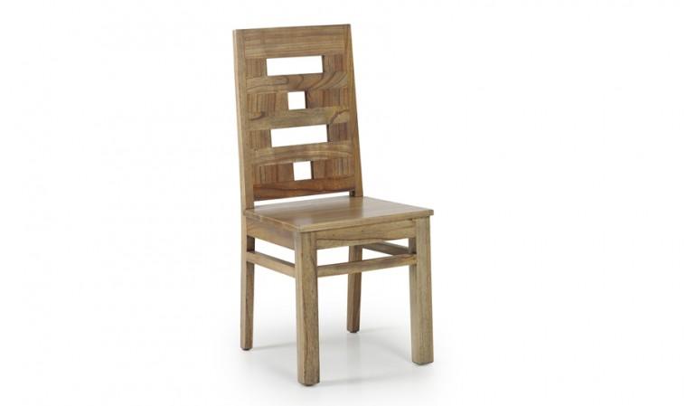 Chaise salle manger bois exotique