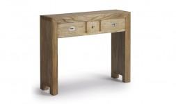 Console bois exotique 3 tiroirs