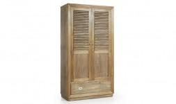 Armoire 2 portes bois exotique