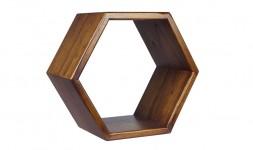 Étagère murale bois forme géométrique