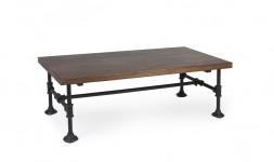 Table basse industriel manguier acier