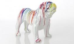 Statue bulldog usa trash m