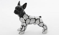 Statue de bulldog français...