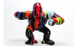 Statue gorille trash noir