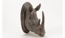 Statue rhino mural rusty