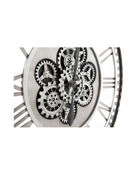 Horloge murale métal leo