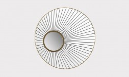 Miroir rond métal design