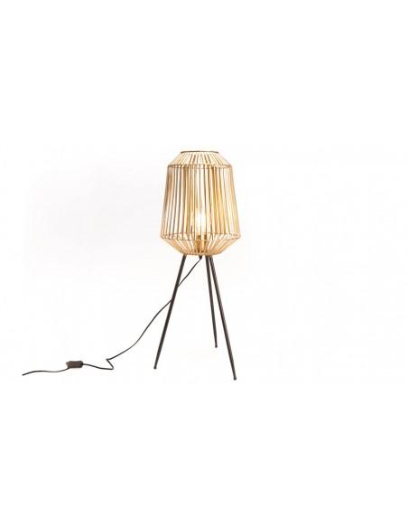 Grande lampe table métal doré