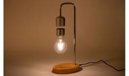 Lampe led metal chêne lévitation