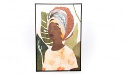 Toile femme africaine 80 x 120 cm
