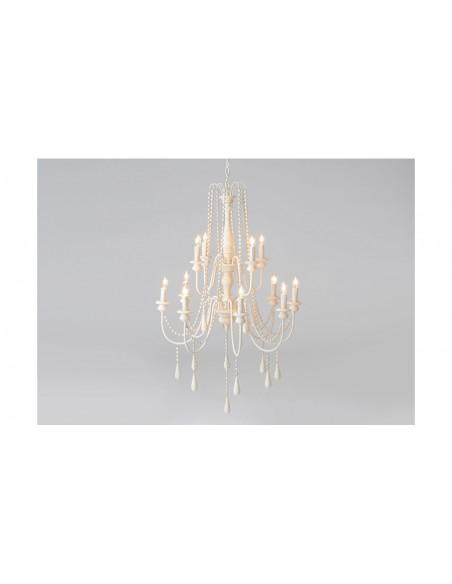 Suspension 6 chandeliers blanc trousseau