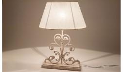 Lampe table métal abat jour lin