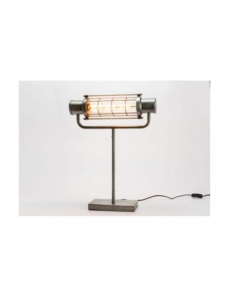 Lampe poser industrielle fer verre