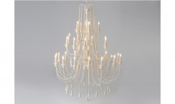 Lustre 28 chandeliers blanc
