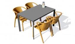 Ensemble jardin table fauteuils