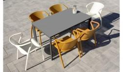 Ensemble table 6 fauteuils