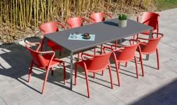 Ensemble jardin table 8 fauteuils