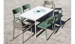 Ensemble table 6 chaises fauteuils