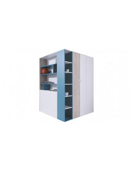 Grand dressing angle blanc bleu
