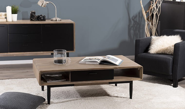 Table basse acacia