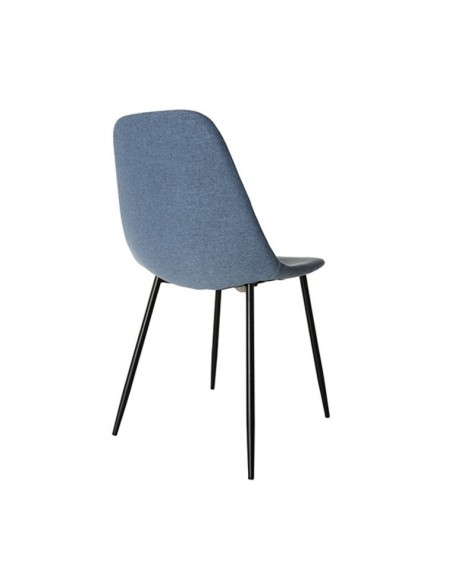 Chaise à manger en tissu bleu