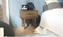 Table chevet bois exotique