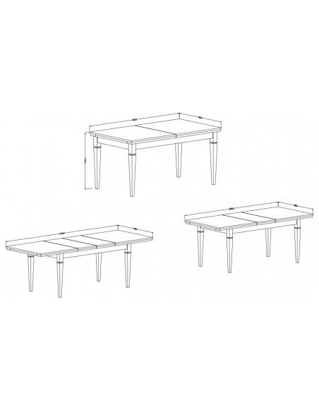 Dimensions Table extensible Boavista