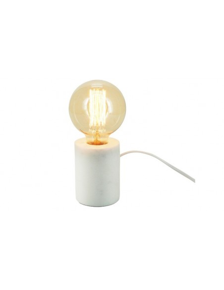Lampe de table en marbre blanc