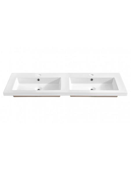 double vasque blanche