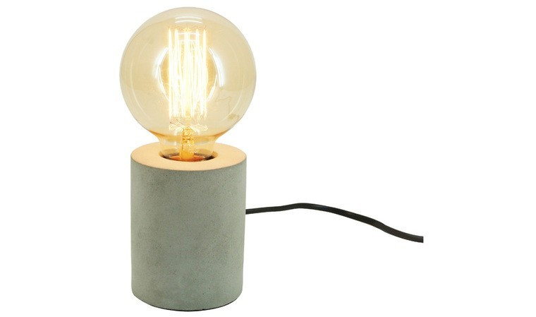 Lampe de table ronde grise
