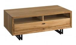 Table basse chêne sur pieds en métal