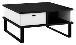 Table basse carrée noire blanche