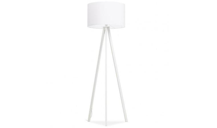Lampadaire trépied blanc
