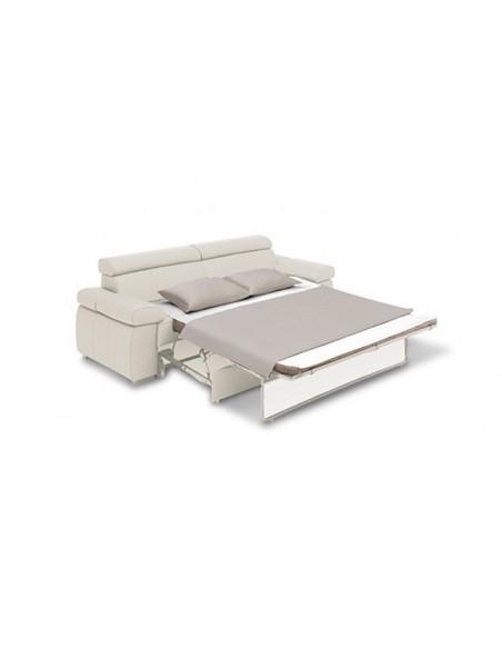 Canapé design convertible 3 places en cuir