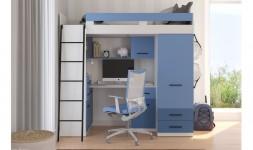Lit enfant combiné bureau et armoire