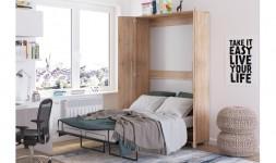 Lit armoire escamotable 1 place