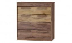 Buffet 4 tiroirs bois foncé