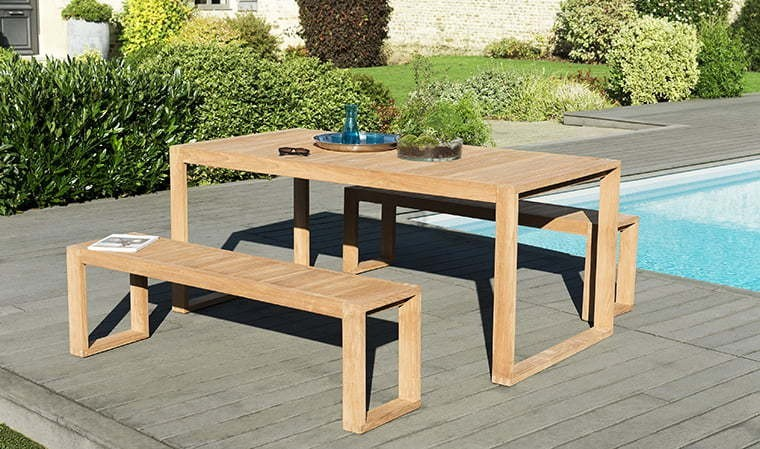 Stunning Salon De Jardin Table Avec Banc Pictures - House Design ...