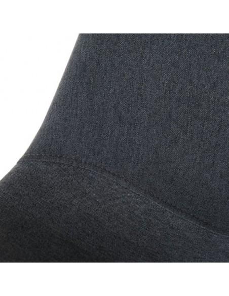 Chaise salle à manger tissu anthracite