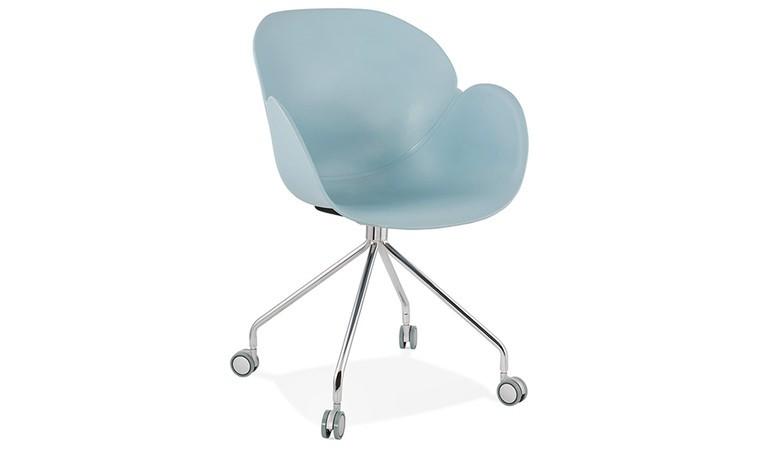 fauteuil plastique à roulettes