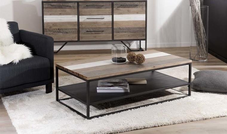 Table basse double plateau