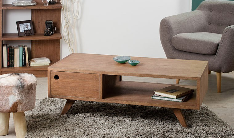 table basse scandinave en bois exotique mindy collection oslo. Black Bedroom Furniture Sets. Home Design Ideas