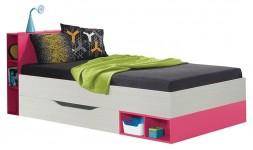 Lit enfant et ado rose avec rangements sous le lit