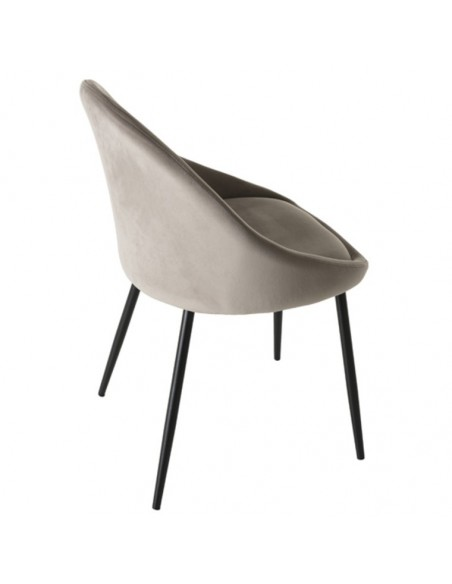 Chaise velours chamois