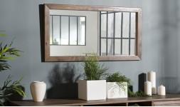 Miroir rectangulaire en acacia